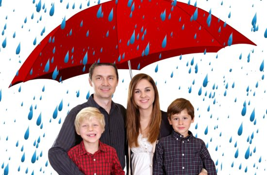 Family with a safety from bad times