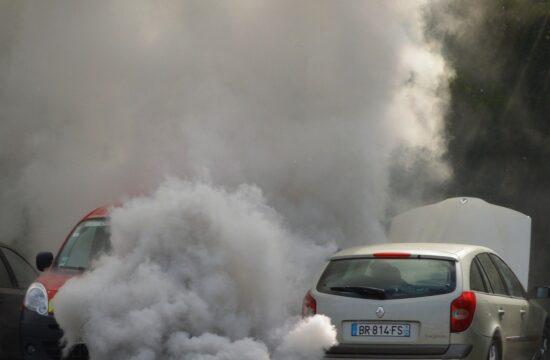 Car giving out smoke